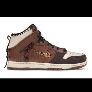 Nike Dunk High x Bodega Fauna Brown
